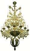 Three-level church chandelier - 9 (34 lights)