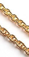 Pectoral cross chain Anchor no.5 (gold-gilding)