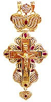 Clergy jewelry pectoral cross no.11 (red stones)