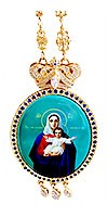 Bishop panagia - 2 (blue enamel)