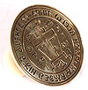 Russian Orthodox prosphora seal no.344 (Diameter: 2.4'' (60 mm))