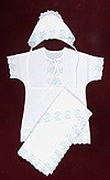 Peter embroidered baptismal clothes for newborn boys
