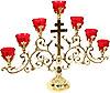 Table seven-branch candelabrum