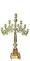 Floor seven-branch altar stand (candelabrum) with Angel