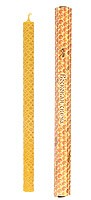 100% Pure beeswax 11-inch candle - Russian