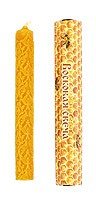 100% Pure beeswax 6-inch candle - Damask-2