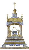 Orthodox  tabernacles: Tabernacle no.6b (filigree)