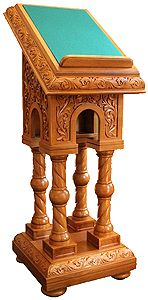 Church lecterns: Apostle carved lectern