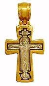 Baptismal cross: Crucifixion - Theotokos Oranta