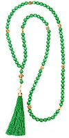 Orthodox prayer rope 100 knots - Cat's eye (green)