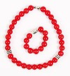 Orthodox prayer rope set (30 + 10 knots) - Red agate