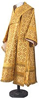 Bishop vestments - metallic brocade B (yellow-claret-gold)