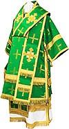 Bishop vestments - metallic brocade B (green-gold)