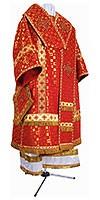 Bishop vestments - metallic brocade B (red-gold)