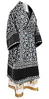 Bishop vestments - metallic brocade B (black-silver)