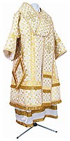 Bishop vestments - metallic brocade B (white-gold)