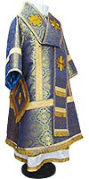 Bishop vestments - metallic brocade BG1 (blue-gold)
