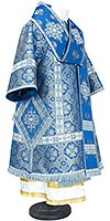Bishop vestments - metallic brocade BG1 (blue-silver)