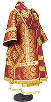 Bishop vestments - metallic brocade BG1 (claret-gold)