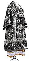 Bishop vestments - metallic brocade BG1 (black-silver)