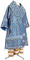 Bishop vestments - metallic brocade BG2 (blue-silver)
