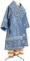 Bishop vestments - metallic brocade BG2 (blue-silver)