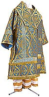 Bishop vestments - metallic brocade BG3 (blue-gold)