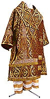 Bishop vestments - metallic brocade BG3 (claret-gold)