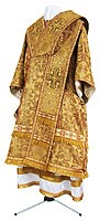Bishop vestments - metallic brocade BG3 (yellow-claret-gold)