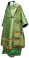 Bishop vestments - metallic brocade BG3 (green-gold)
