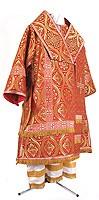 Bishop vestments - metallic brocade BG3 (red-gold)