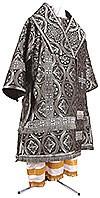 Bishop vestments - metallic brocade BG3 (black-silver)