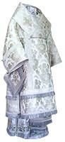 Bishop vestments - metallic brocade BG3 (white-silver)
