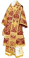 Bishop vestments - metallic brocade BG4 (claret-gold)