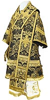 Bishop vestments - metallic brocade BG4 (black-gold)