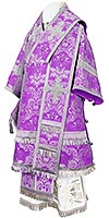 Bishop vestments - metallic brocade BG4 (violet-silver)