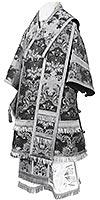 Bishop vestments - metallic brocade BG4 (black-silver)
