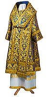 Bishop vestments - metallic brocade BG6 (blue-gold)