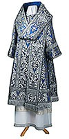 Bishop vestments - metallic brocade BG6 (blue-silver)