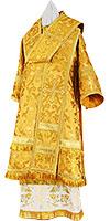Bishop vestments - metallic brocade BG5 (yellow-claret-gold)
