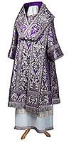 Bishop vestments - metallic brocade BG6 (violet-silver)