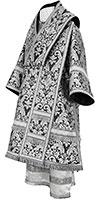 Bishop vestments - metallic brocade BG5 (black-silver)