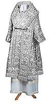 Bishop vestments - metallic brocade BG6 (white-silver)