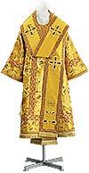 Bishop vestments - metallic brocade BG6 (yellow-claret-gold)