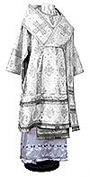 Bishop vestments - rayon brocade S2 (white-silver)