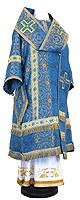 Bishop vestments - rayon brocade S3 (blue-gold)