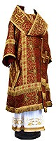 Bishop vestments - rayon brocade S2 (claret-gold)
