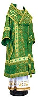 Bishop vestments - rayon brocade S3 (green-gold)