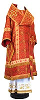 Bishop vestments - rayon brocade S3 (red-gold)