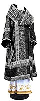 Bishop vestments - rayon brocade S3 (black-silver)